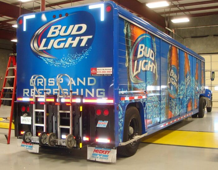 truck with Bud Light Logo
