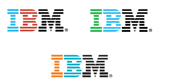 multiple renditions of the IBM logo