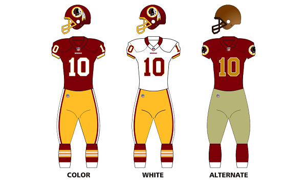 redskins logo on uniforms