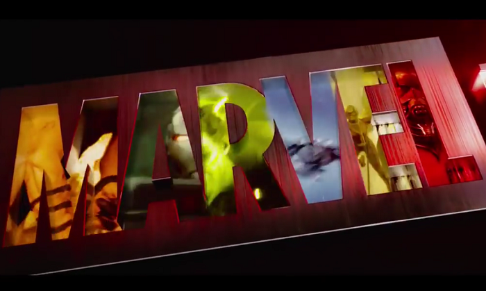 Marvel logo title screen