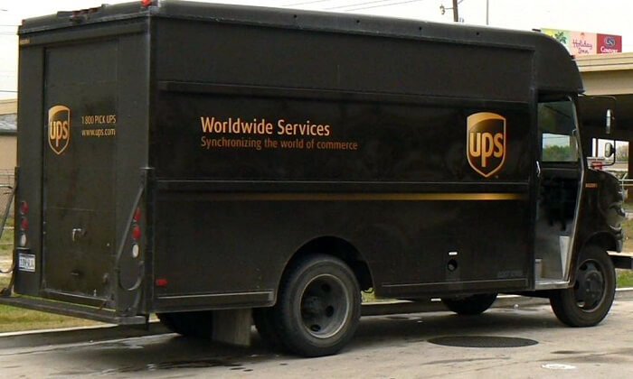 UPS logo delivery truck