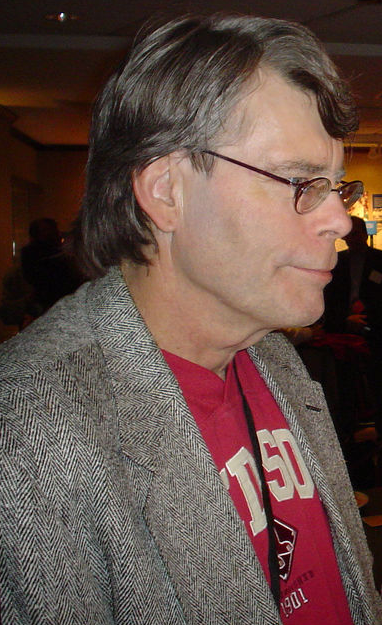 Red Sox logo on Stephen King's t-shirt