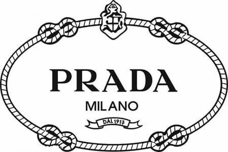 previous prada logo with outline