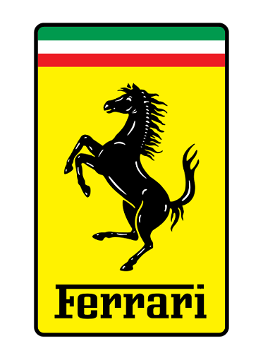 ferrari logo rectangle new