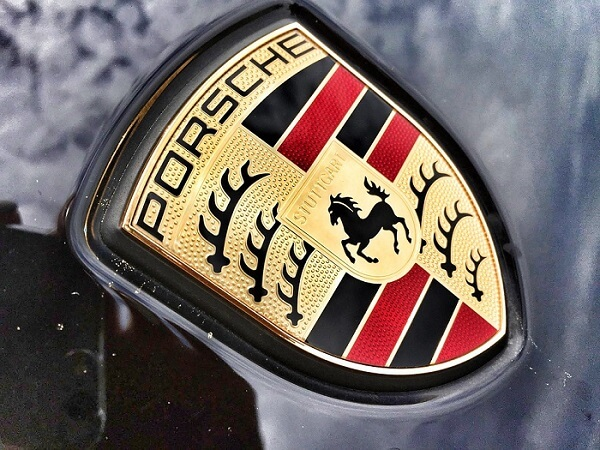 porsche logo on car