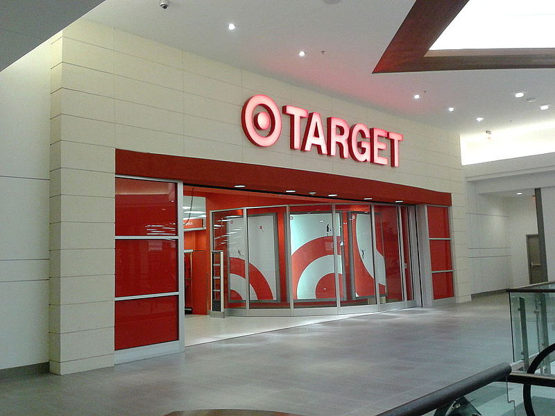 target logo on a store at springfield town center