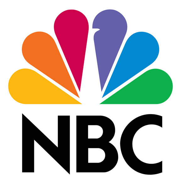 NBC colorful Peacock logo